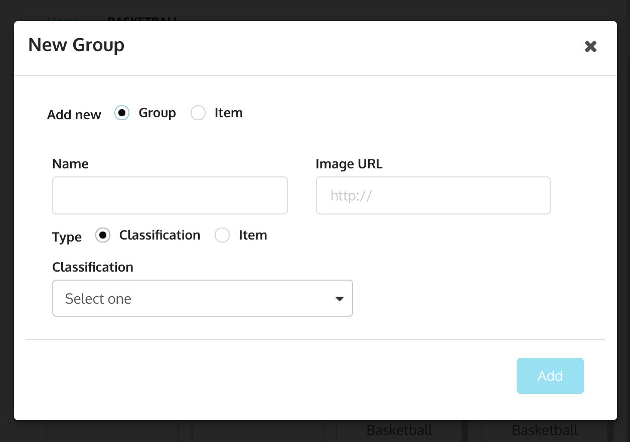 Hotkey add group or item